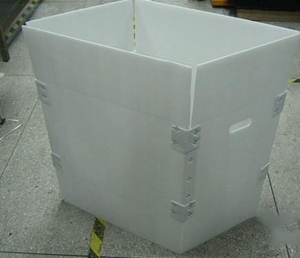 中空板折叠箱(四边加强块加固)